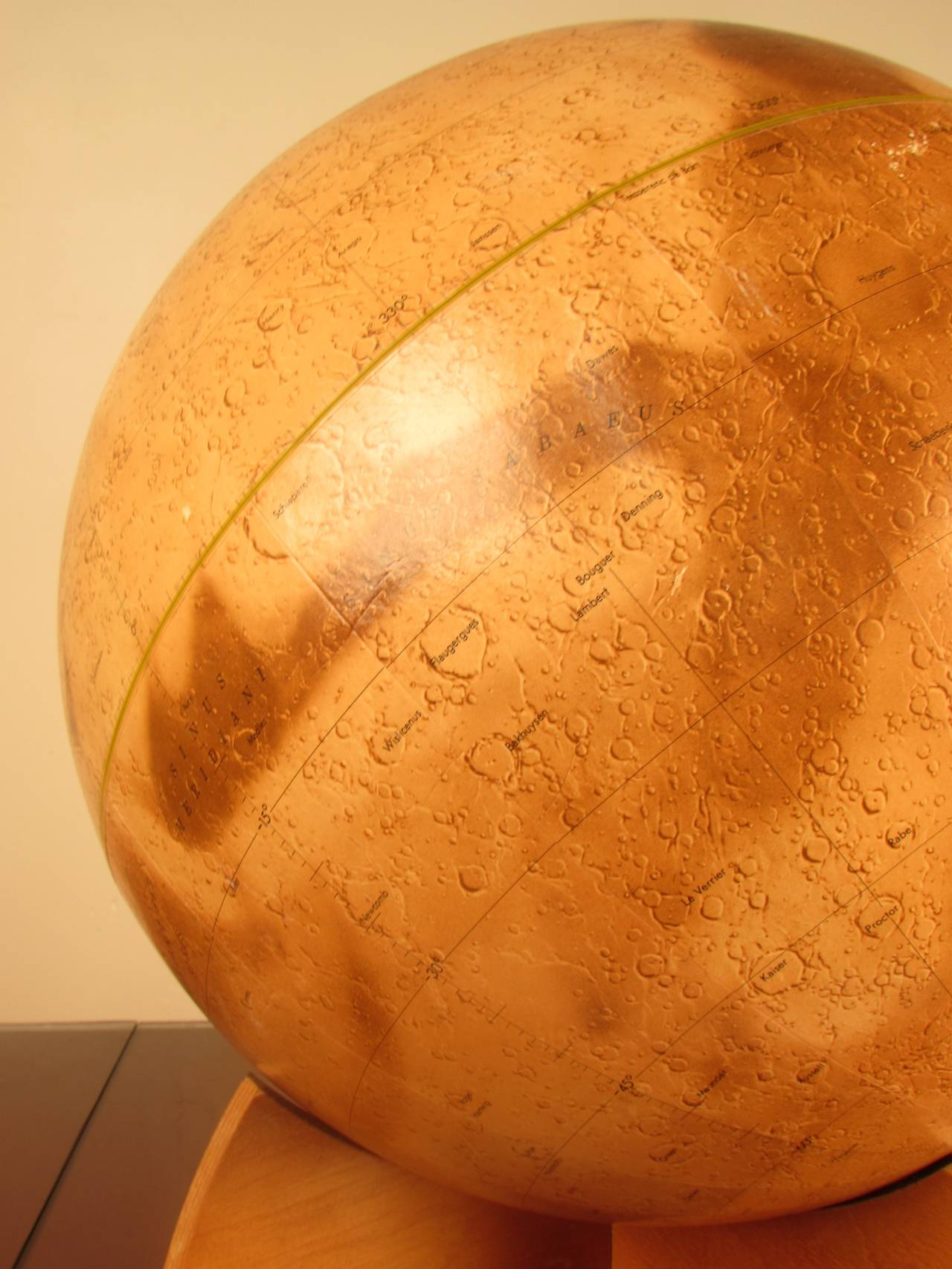 American Rare First Edition Mariner 9 Mars Globe Denoyer-Geppert, 1973 For Sale