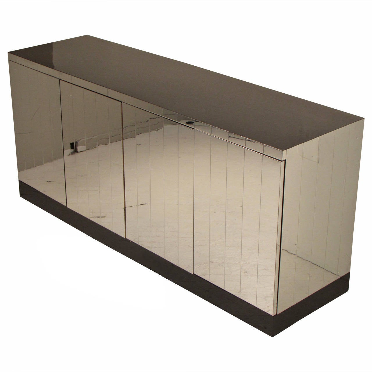 Rarely Seen Paul Evans Chrome Credenza From The Selig