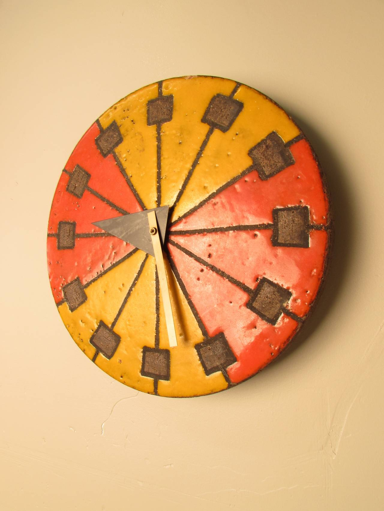 Image of: Iconic Midcentury Ceramic Clock Made By Aldo Londi For Howard Miller At 1stdibs