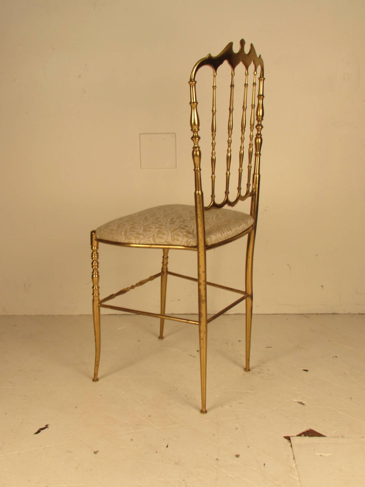 Brass Vanity or Desk Chair by Chiavari at 1stdibs