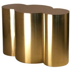 Custom Cloud Table Base in Polished Brass by Refine Studio