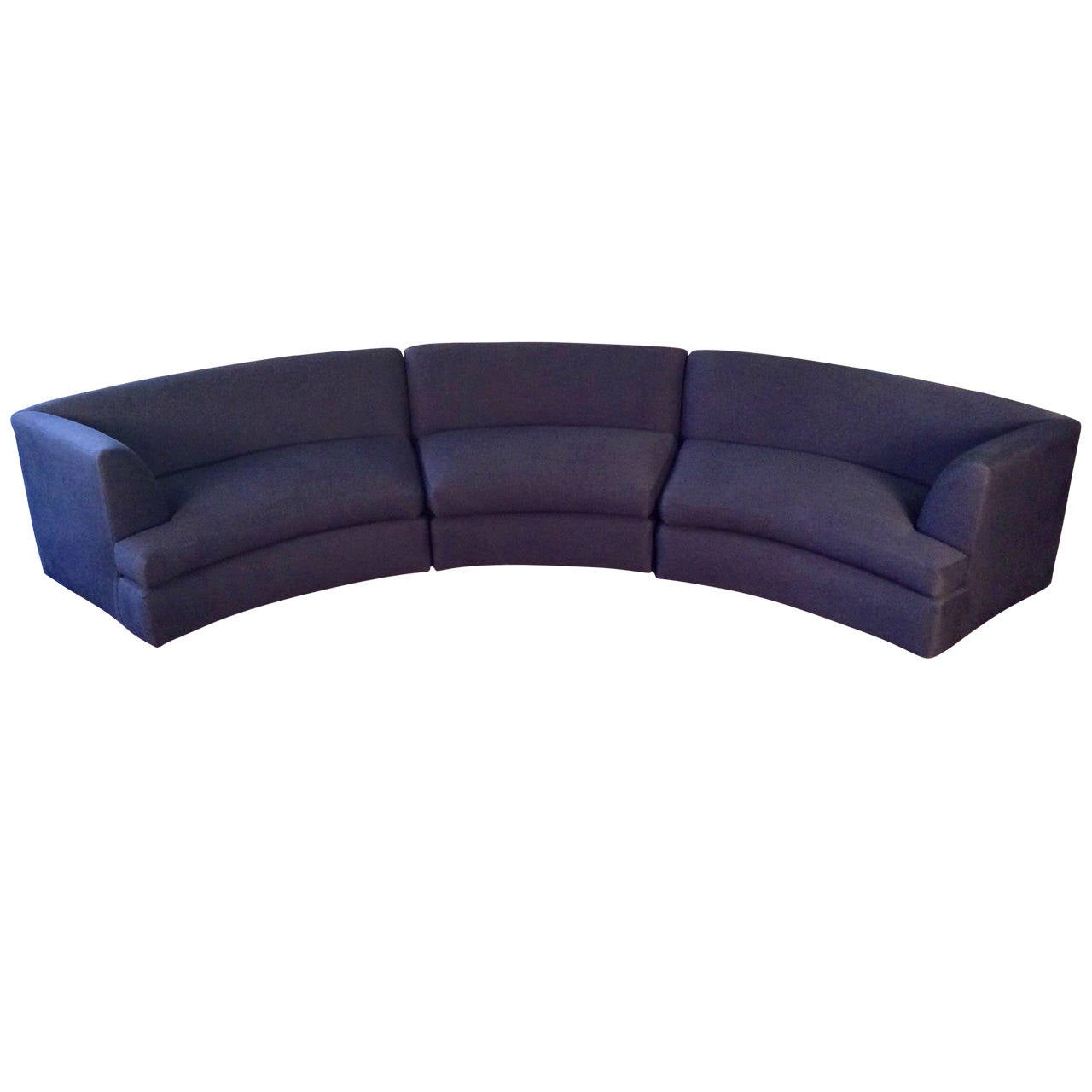 Awesome Curved Sofa By Directional In The Style Of Milo Baughman At 1stdibs