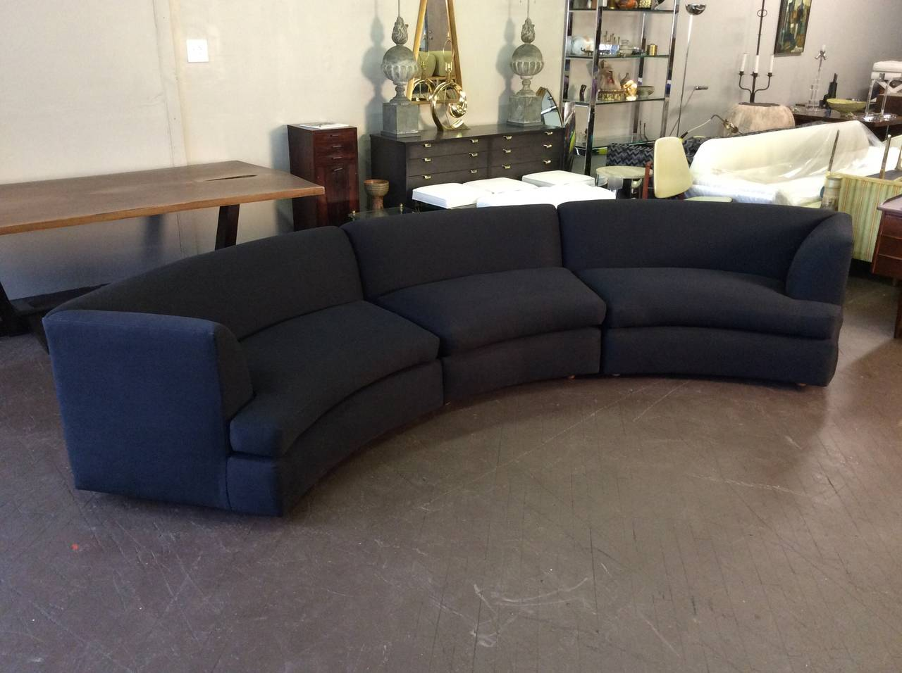 Awesome Curved Sofa By Directional In The Style Of Milo