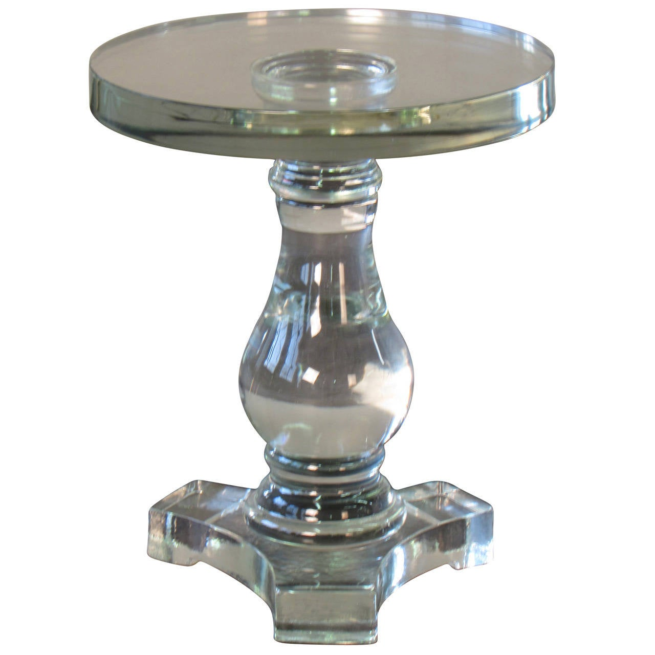 beautiful solid murano glass baluster table or pedestal by