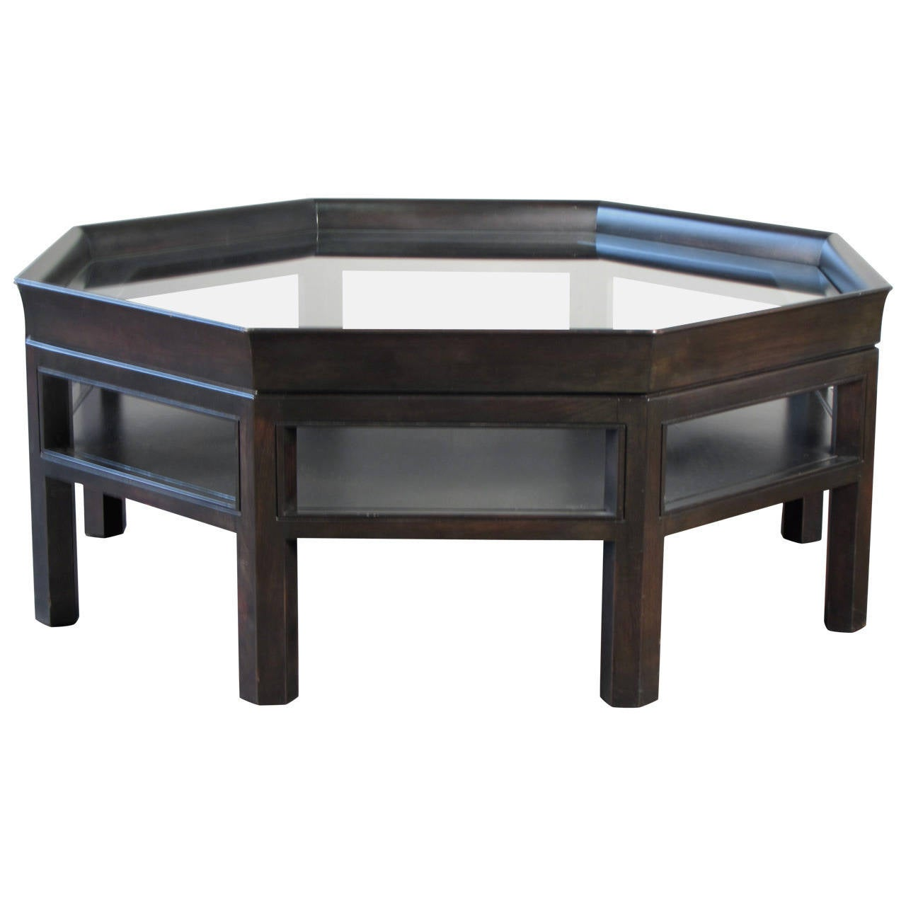 Octagonal coffee table by baker furniture at 1stdibs for Octagon coffee table