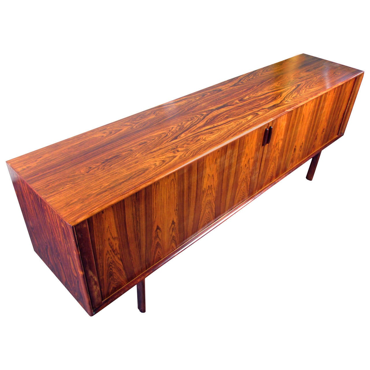 Wickedly Grained Rosewood Buffet Or Credenza With Tambour Doors . Full resolution  snapshot, nominally Width 1280 Height 1280 pixels, snapshot with #AE4B1D.