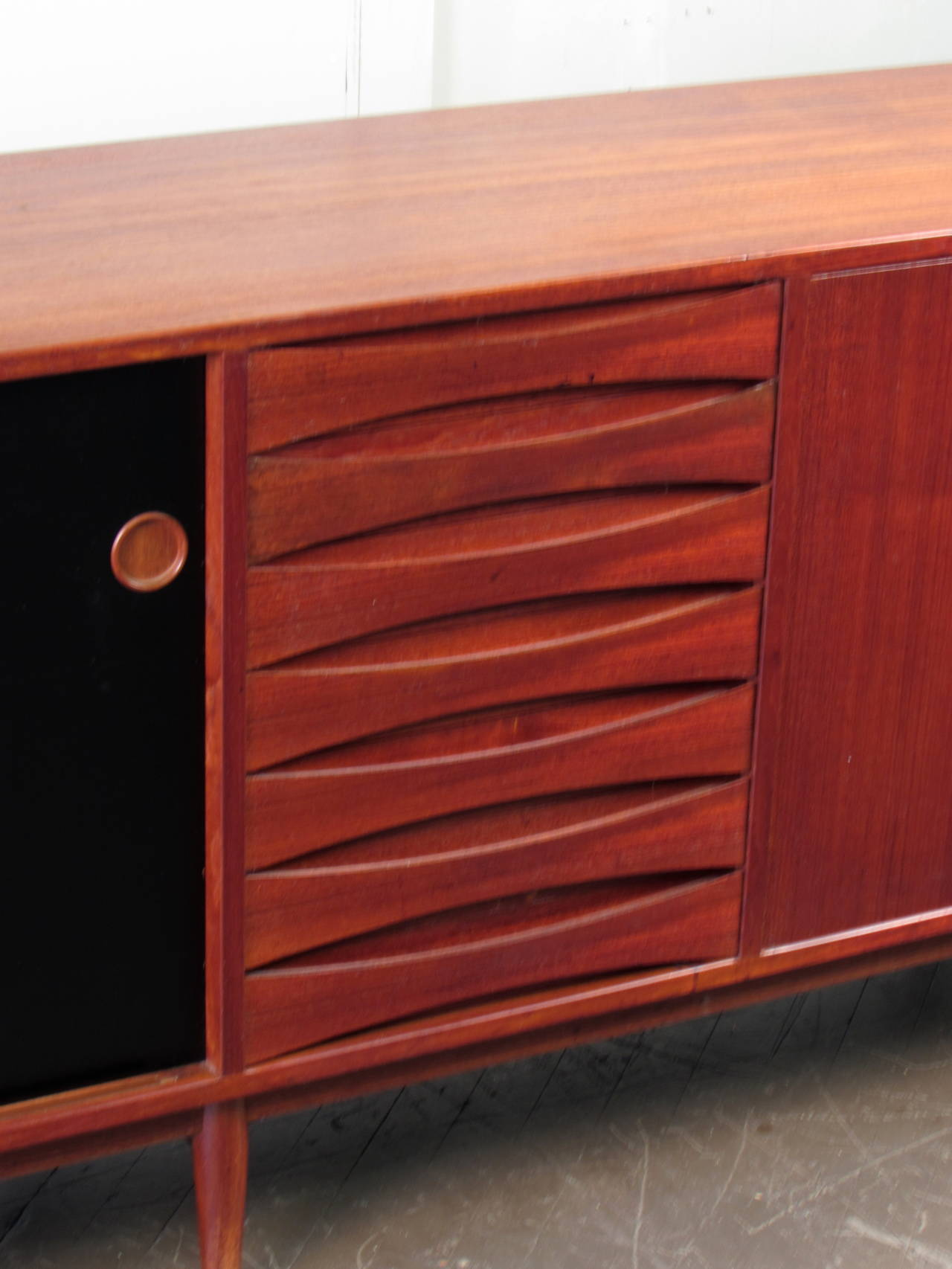 Massive Teak Buffet Or Credenza With Reversible Doors By Arne Vodder . Full resolution  snapshot, nominally Width 1280 Height 1706 pixels, snapshot with #A33B28.