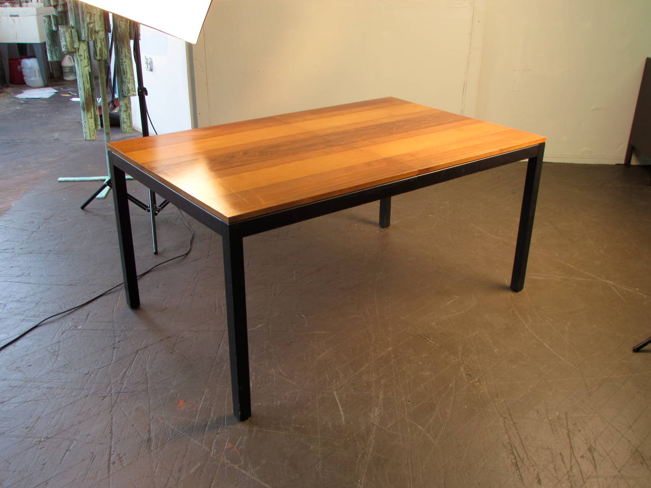 handsome rosewood ash and walnut dining table by milo
