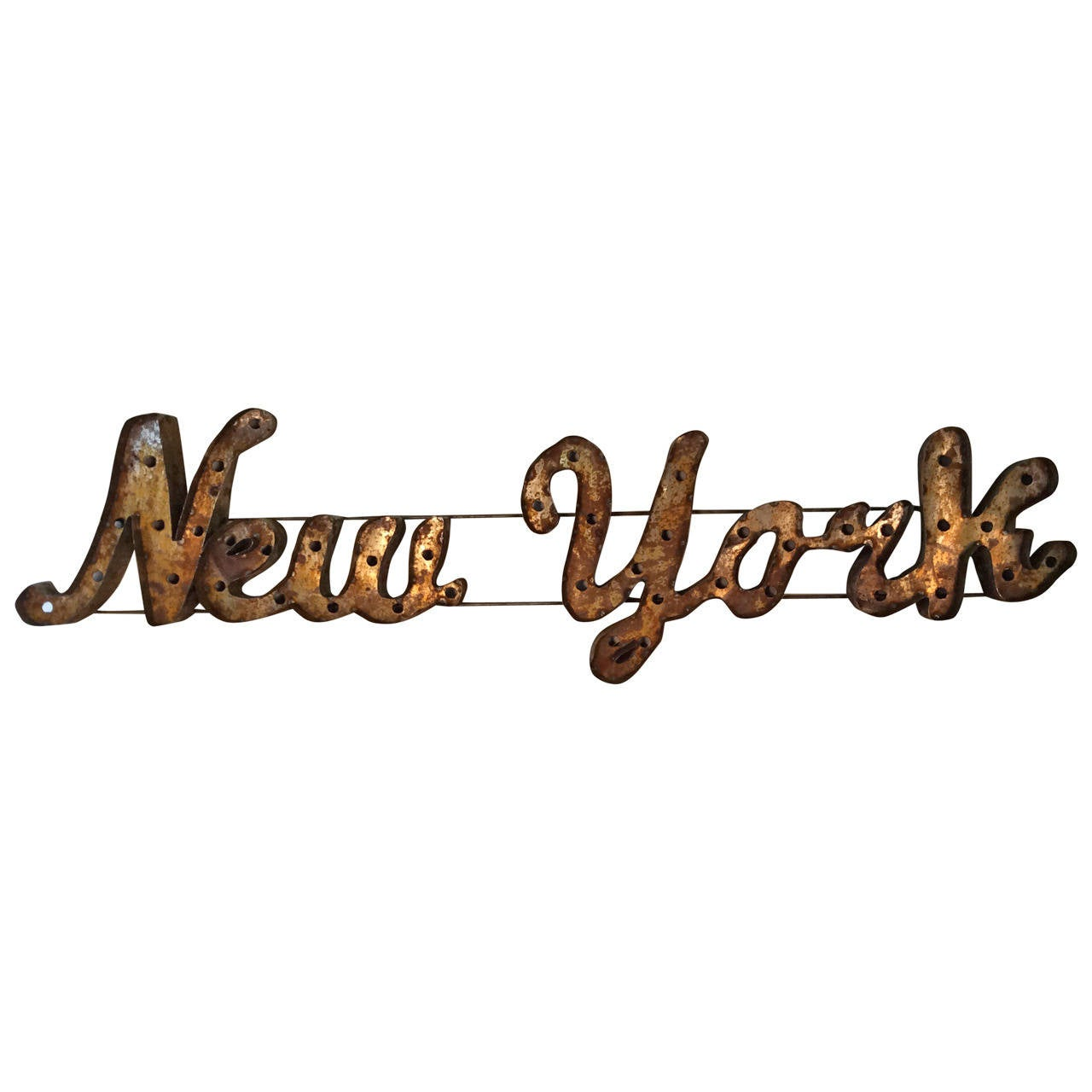Large quot new york marquee artist made distressed wall