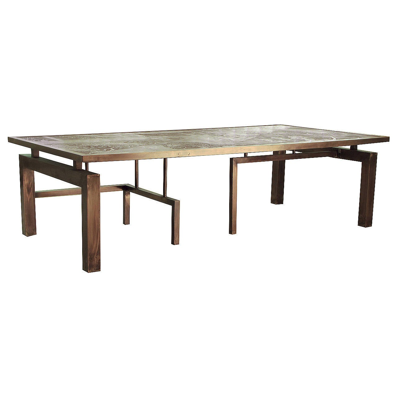 Rare Architectural Medici Coffee Table By Philip And Kelvin Laverne Nyc At 1stdibs