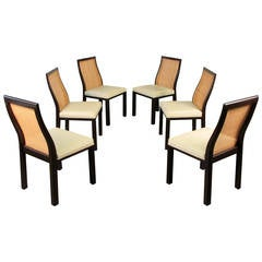 """Set of Six Sculptural Mahogany """"Otter"""" Dining Chairs by Harvey Probber, 1965"""