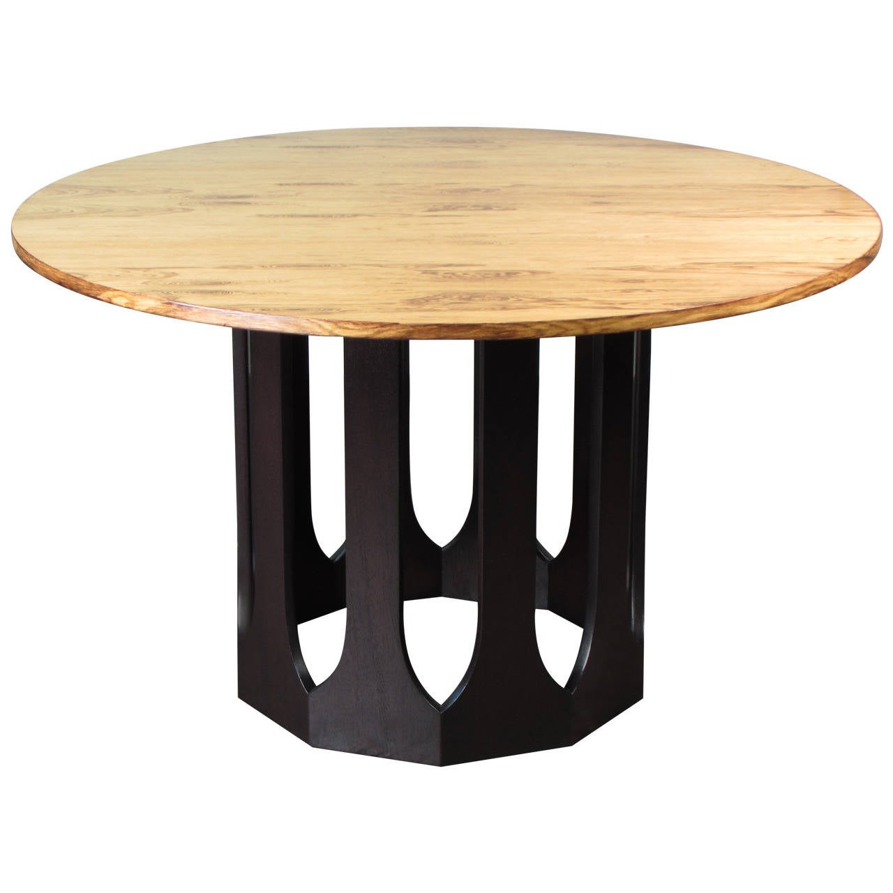 Bleached Rosewood and Mahogany Dinette Table by Harvey Probber, 1965