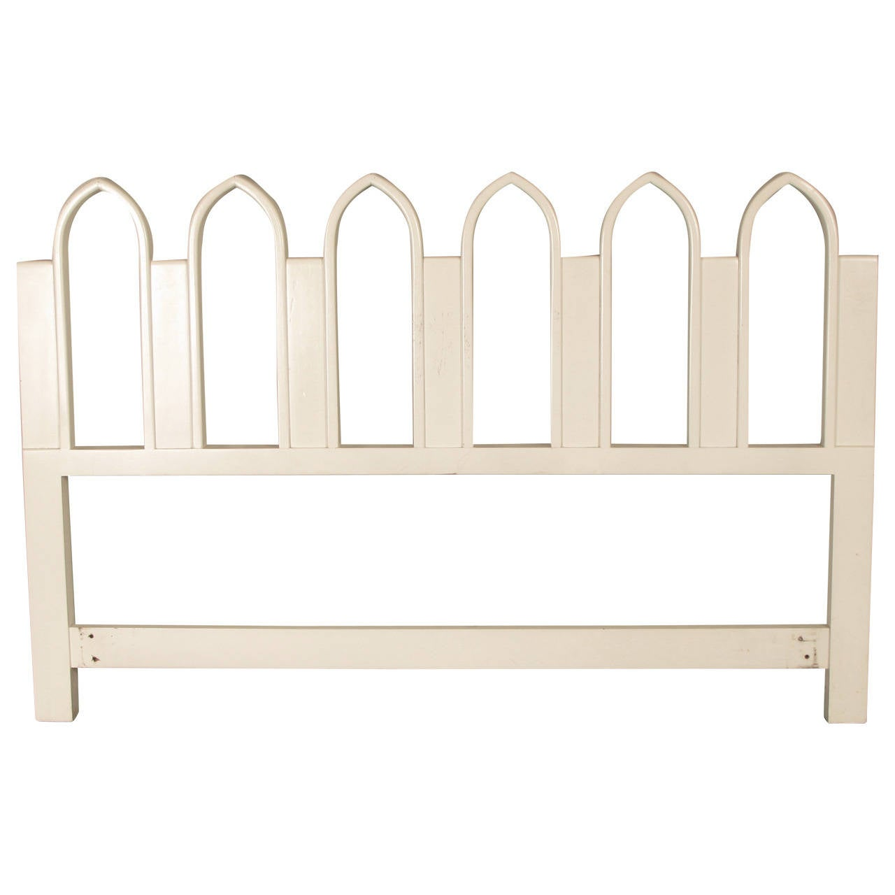 Full or Queen-Size Headboard with Gothic Arch Detail by Harvey Probber, 1965