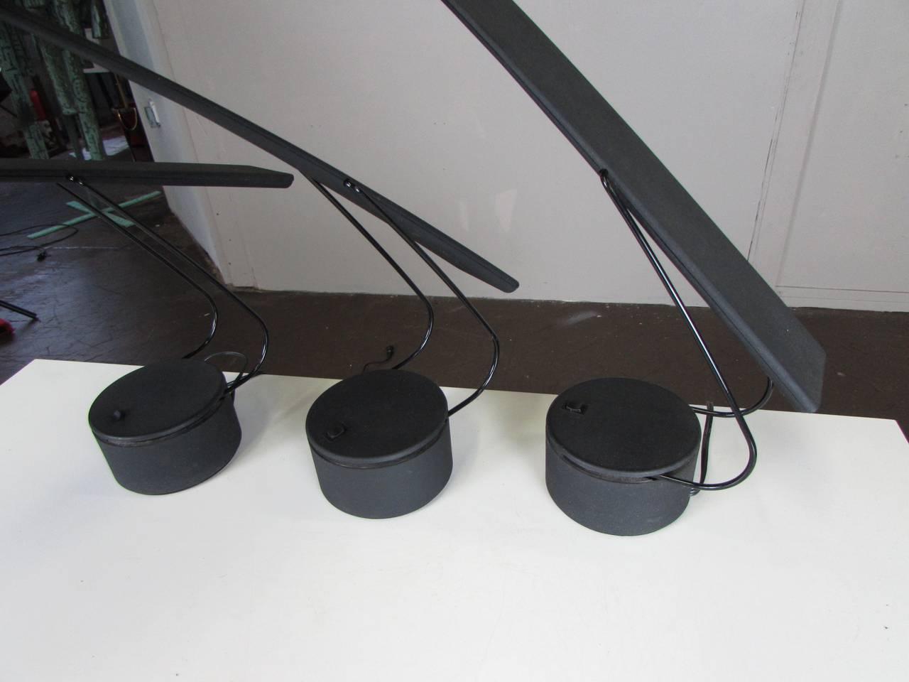 Three Dove Desk Lamps By Mario Barbaglia And Marco Colombo