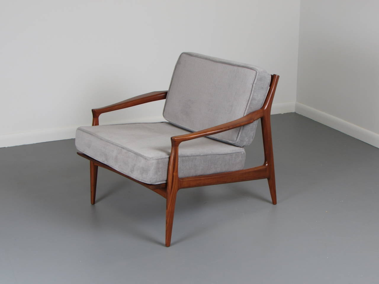 This sculptural pair of lounge chairs by ib kofod larsen is no longer - Sculptural Danish Modern Teak Lounge Chair By Ib Kofod Larsen 1960s 2