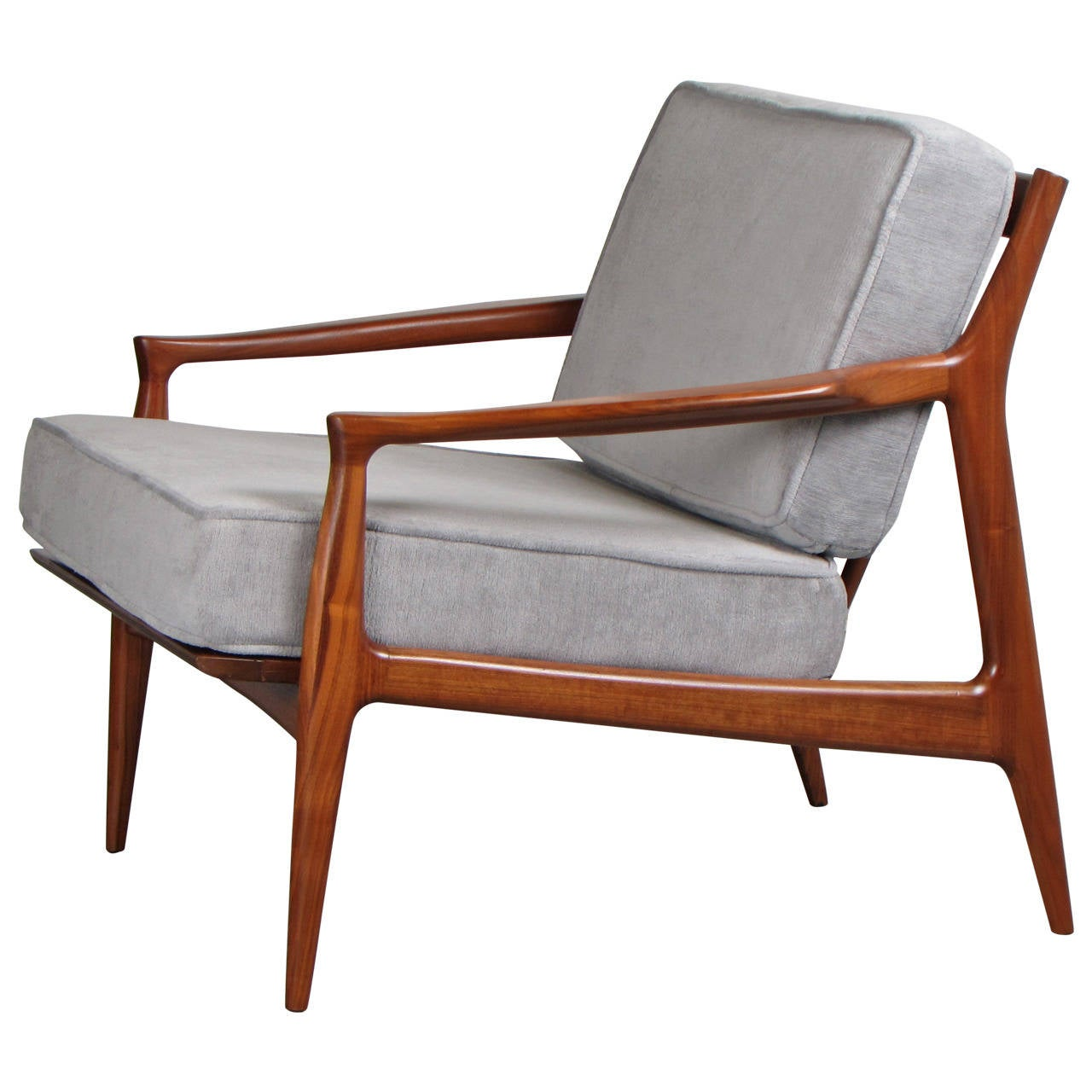 This sculptural pair of lounge chairs by ib kofod larsen is no longer - Sculptural Danish Modern Teak Lounge Chair By Ib Kofod Larsen 1960s 1