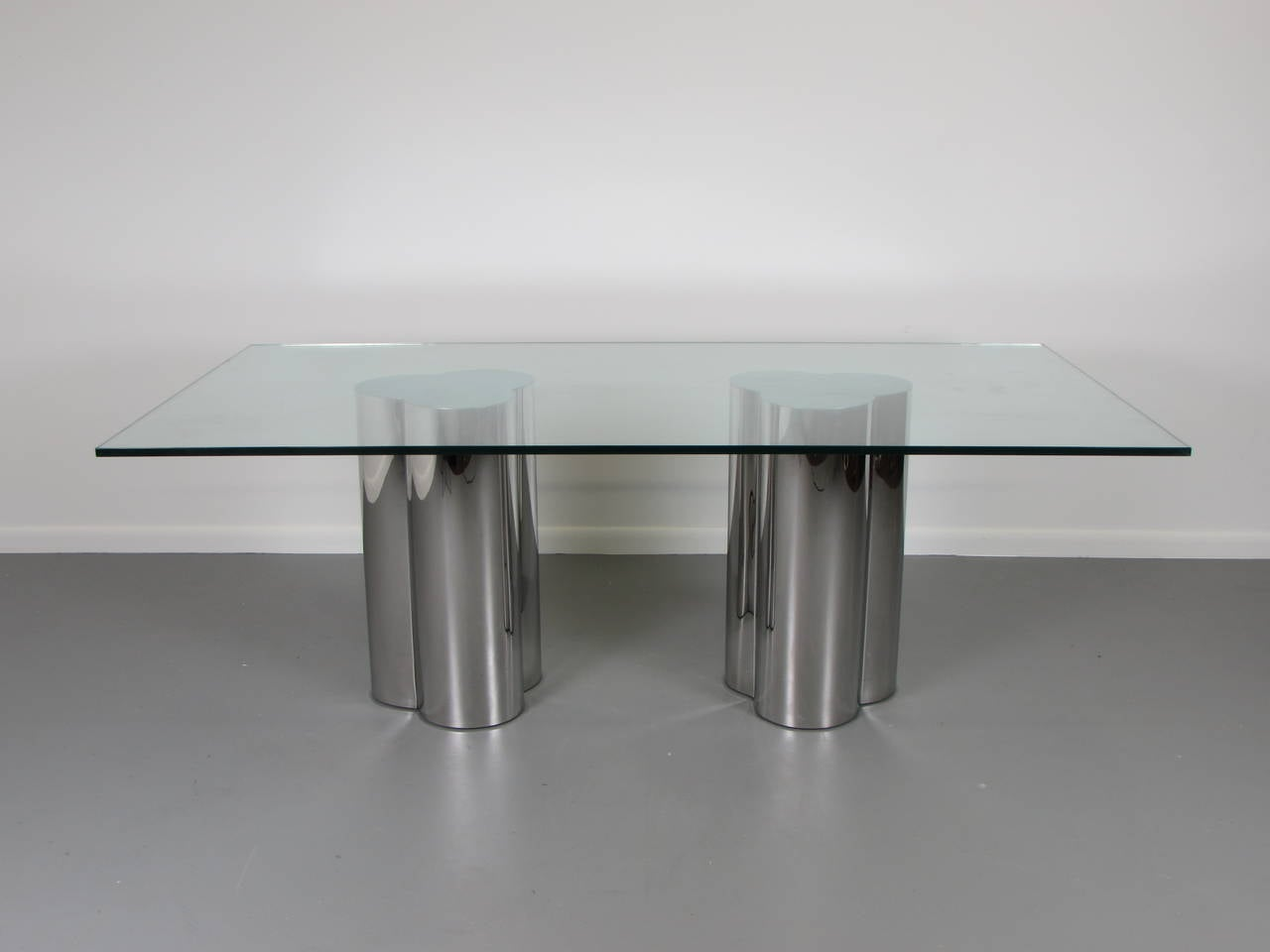 Custom Mirrored Chrome Cloud Table Bases Or Pedestals By Refine Modern  Studio 2