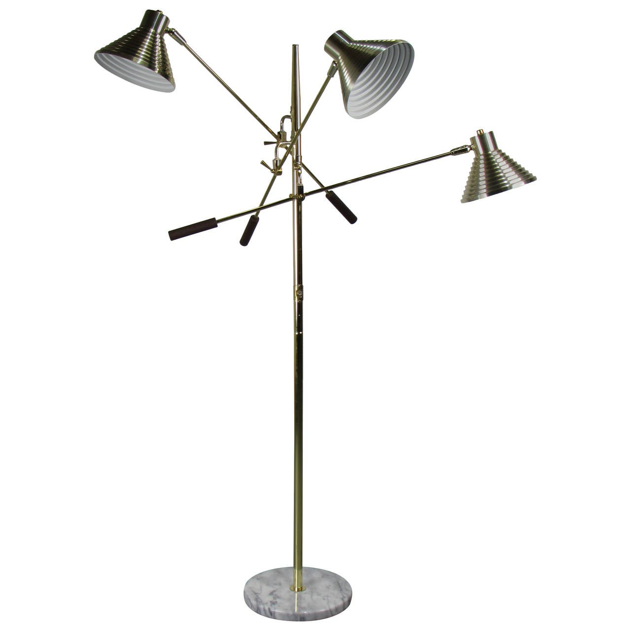 Brass Triennale Floor Lamp With Marble Base By Robert