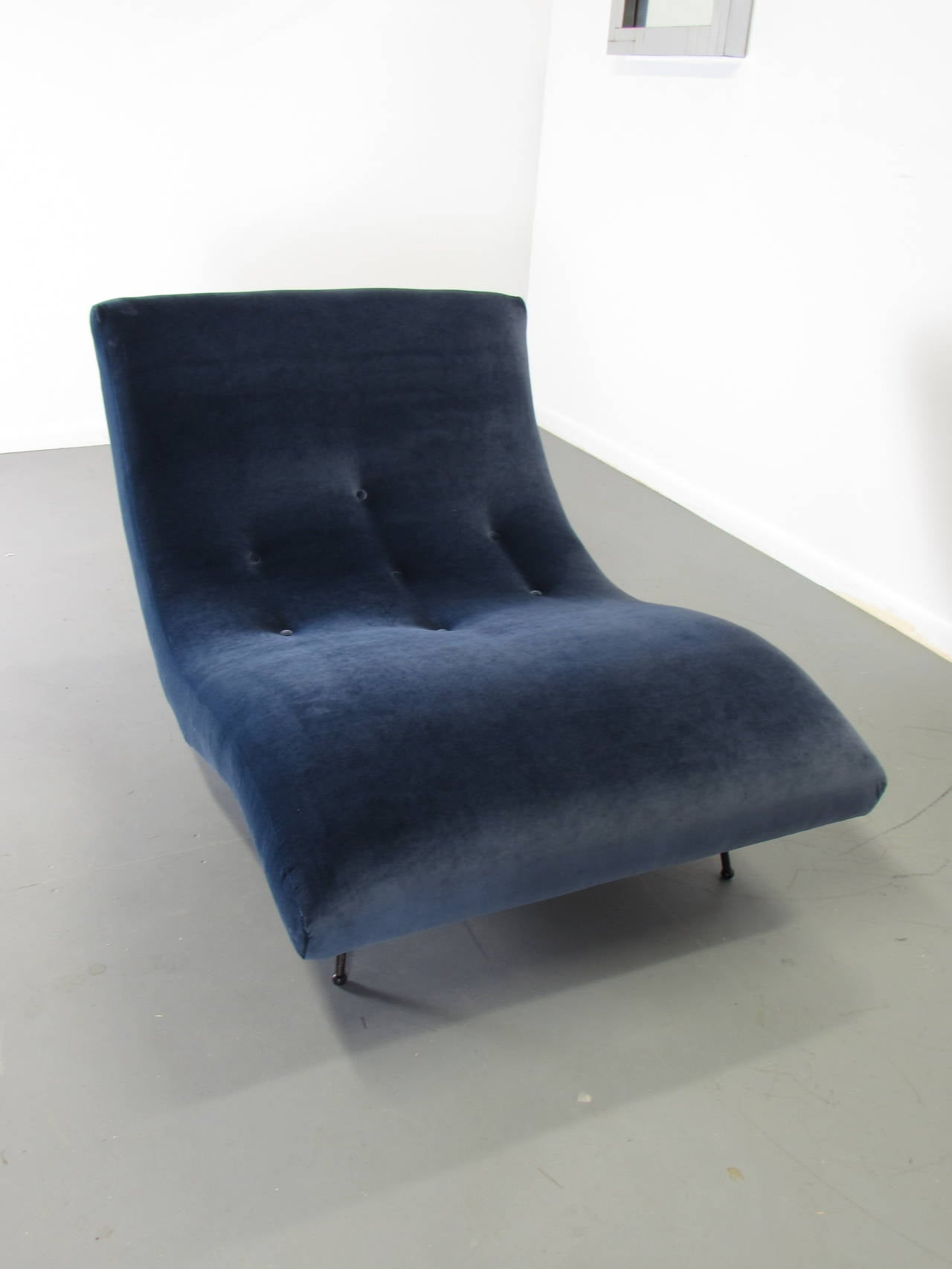Undulating Wave Chaise Lounge By Adrian Pearsall Rare