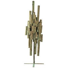 Hand-Crafted Midcentury Brutalist Indoor or Outdoor Sculpture