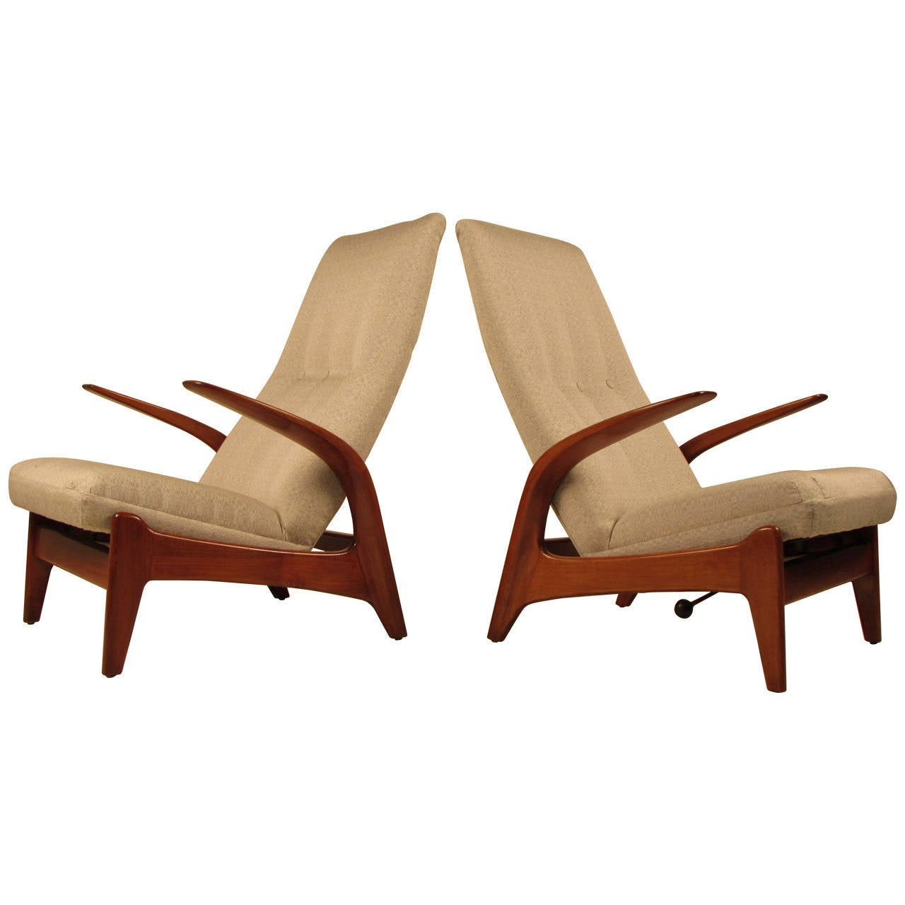 Rare Pair Of Sculptural Gimson And Slater Rock N Rest