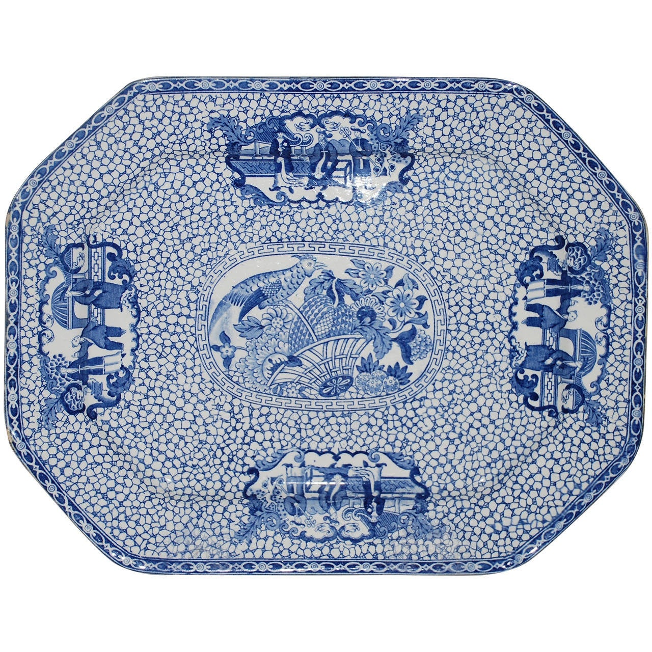 Blue And White Chinese Bird Platter For Sale At 1stdibs