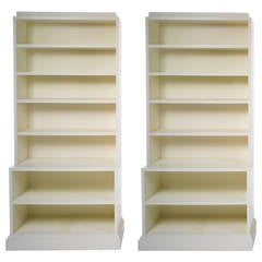 Pair of Modern Albert Hadley Bookcases