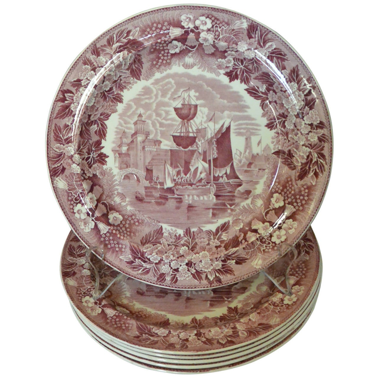 Set Of Six Wedgwood Ferrara Plates For Sale At 1stdibs