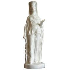 Doccia White Porcelain Caryatid Sculpture