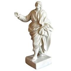 Doccia White Porcelain Sculpture of St. John the Revelator