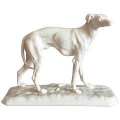 Nymphenburg Porcelain Greyhound Sculpture
