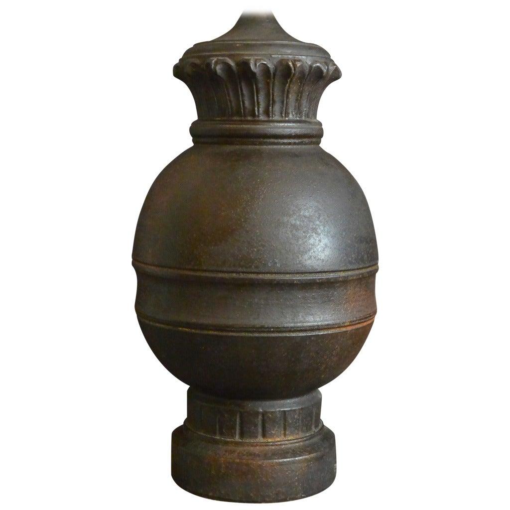 Mid century ginger jar lamp pair at 1stdibs - Italian Terracotta Baluster Lamp For Sale At 1stdibs