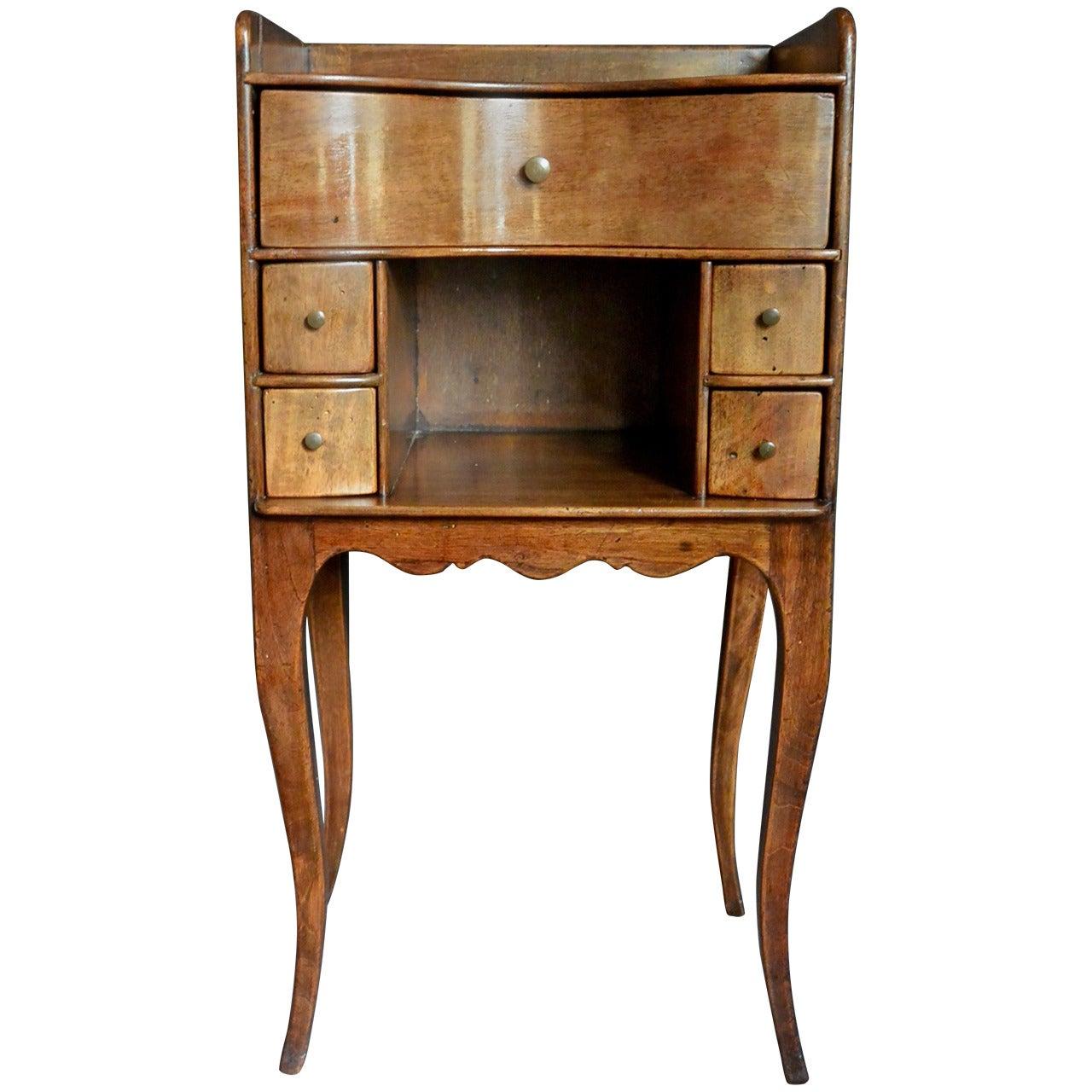 Continental Walnut Side Table