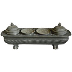 Empire Style French Bronze Inkwell