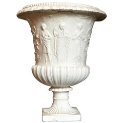 Large White Italian Neoclassical Vase