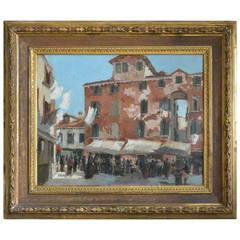 Frank Duveneck Venetian Scene Painting