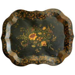 English Painted Tole Tray