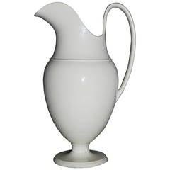 White Neoclassical Creil Creamware Pitcher