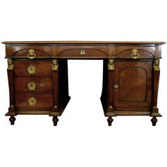 French Mahogany Partners Desk