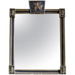Black and Gilt English Regency Mirror