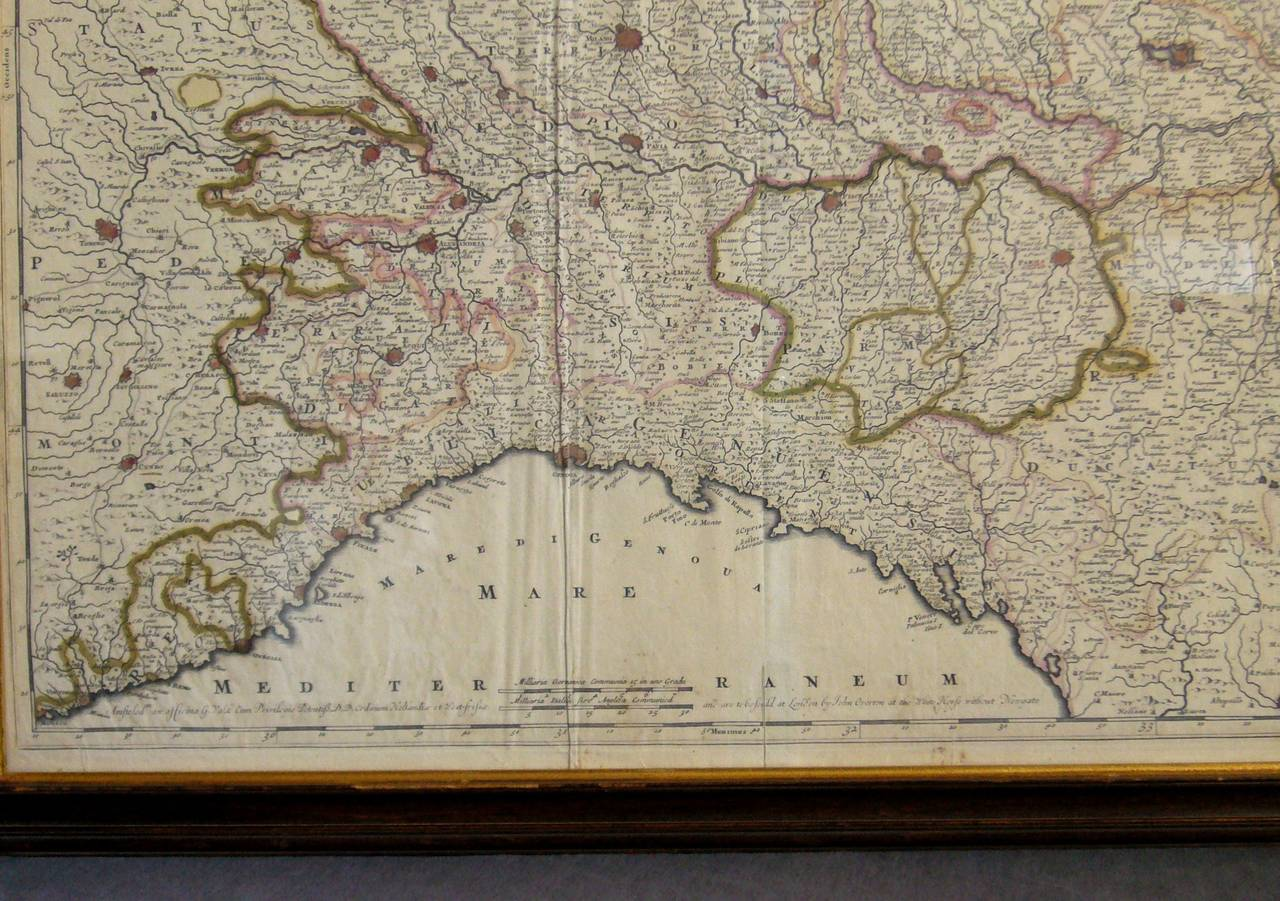 Map Of The Republic Of Genoa For Sale At 1stdibs