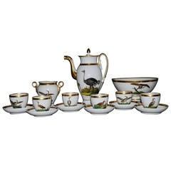 Paris Porcelain Bird Coffee Service