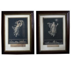 Pair of Italian Neoclassical Allegorical Engravings