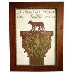Original Rome Olympics Poster by Armando Testa, 1960