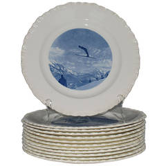 Wedgwood Blue and White Ski Plates