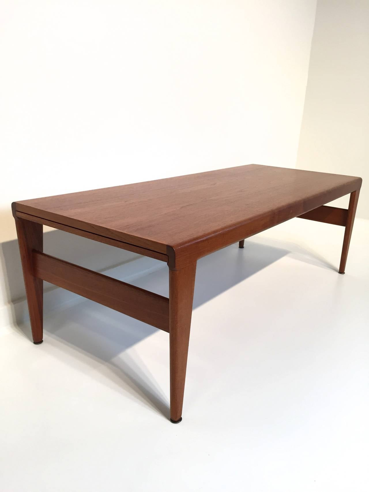 Illum Wikkelso Teak Danish Cocktail Table With Expandable