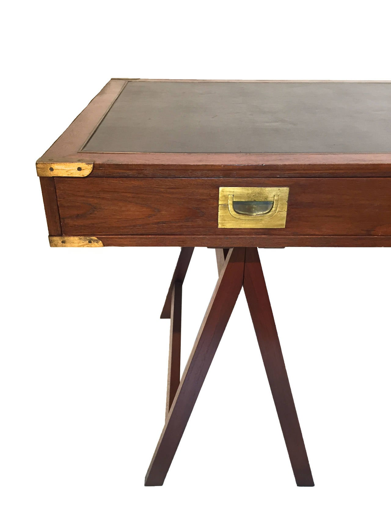 Mahogany asian campaign style desk at 1stdibs for Asian style desk
