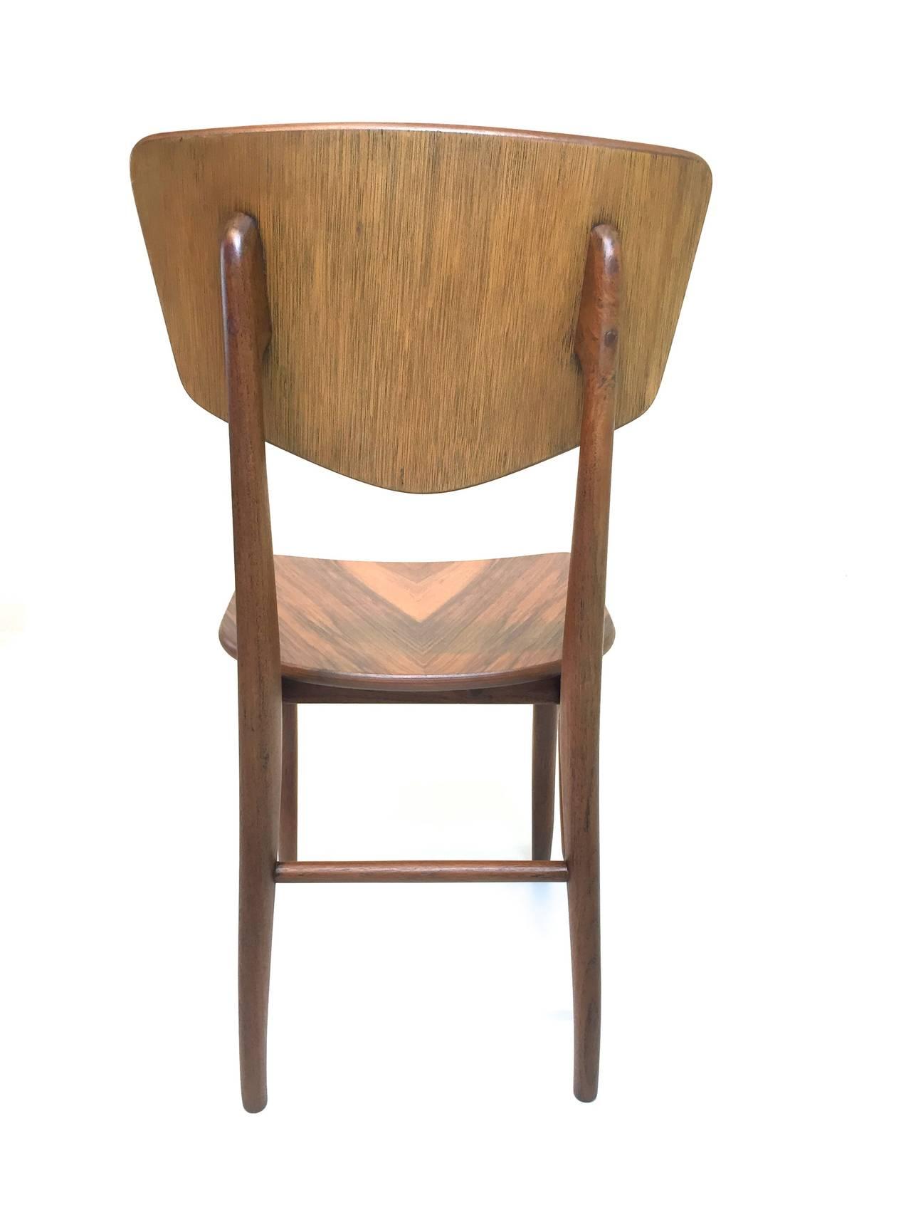 Set Of Six Organic Modern Chairs At 1stdibs