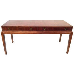 Asian Campaign Style Desk by Henredon