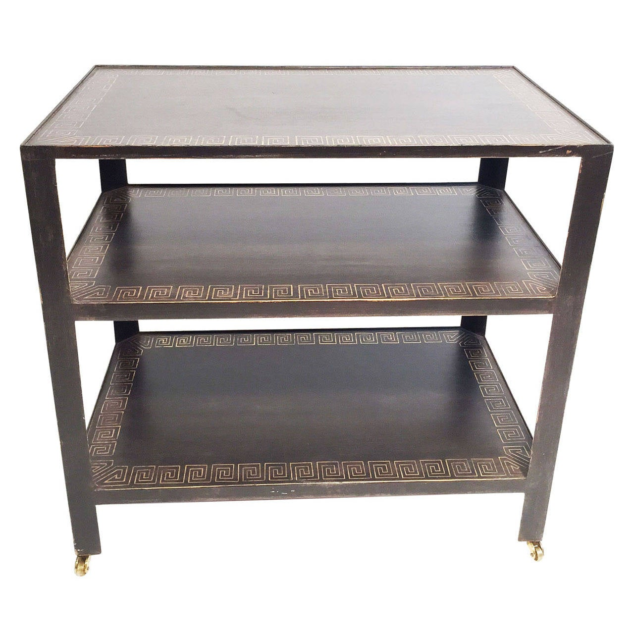 Nancy corzine accessory table with custom greek key border for Table no border